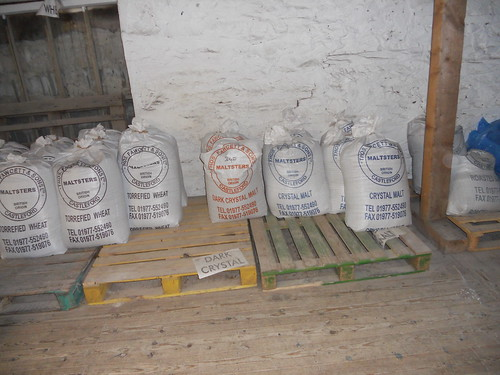 Warehouse with a selection of Hops