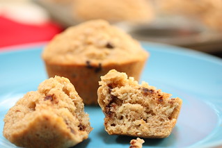 Banana Peanut Butter Oatmeal Muffins | by mealmakeovermoms