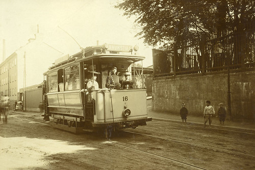 Tram at Danviksgatan in Stockholm 1908 | by Stockholm Transport Museum Commons
