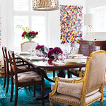 colorful dining room Donna Griffith photog