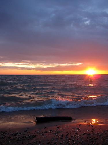 sunset water michigan lakemichigan goodhart