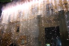 Fuegos artificiales en lla inauguración de Lobiano