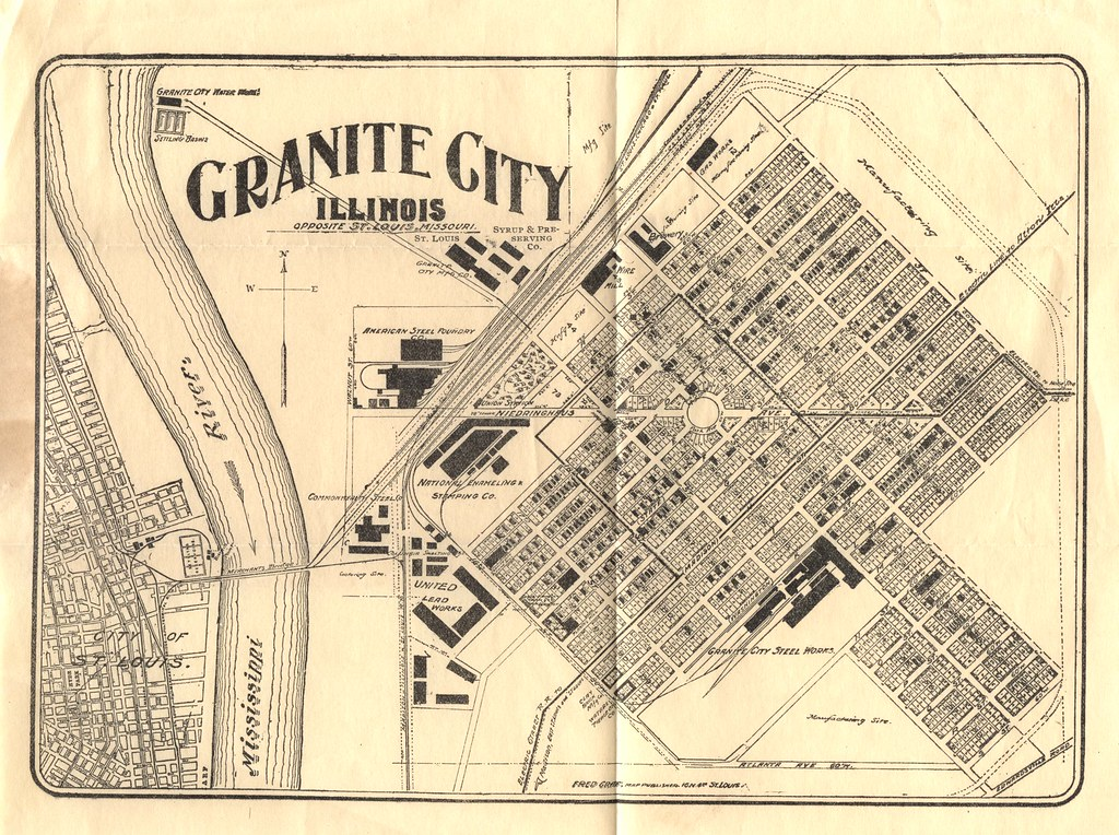 1904 Granite City Booklet - Fold Out Map at End