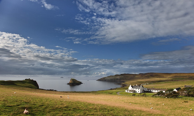 Looking towards Rubha Hunish from Duntulm, at the very top of the Isle of Skye