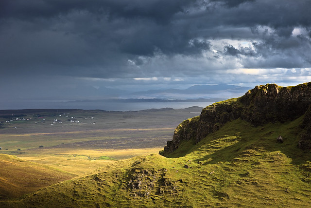 The settlement of Staffin, Isle of Skye.