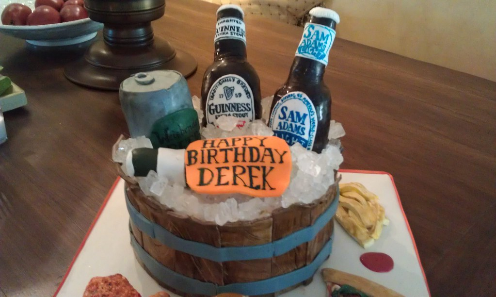 Cool Beer Themed Birthday Cake 3 A Photo On Flickriver Funny Birthday Cards Online Overcheapnameinfo