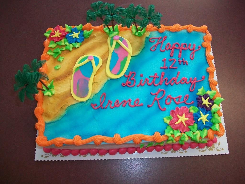 Amazing Flip Flop Birthday Cake Custom Lindas Kitchen Flickr Birthday Cards Printable Inklcafe Filternl