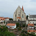 Znojmo. radniční věž a kostel sv. Mikuláše, foto: Petr Nejedlý