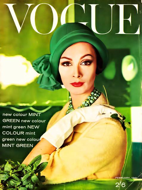 Vogue Magazine Cover - February, 1961