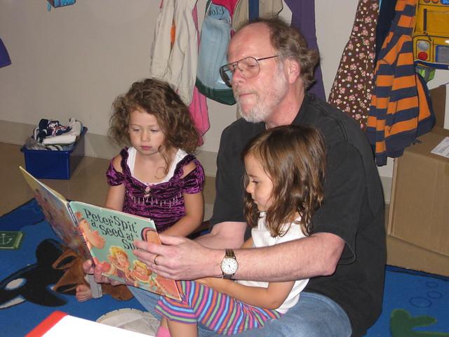 Grandpa Ted reading