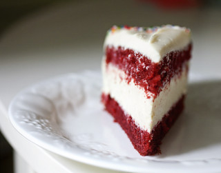 Red Velvet Cheesecake - Slice | by Elissa @ 17 and Baking