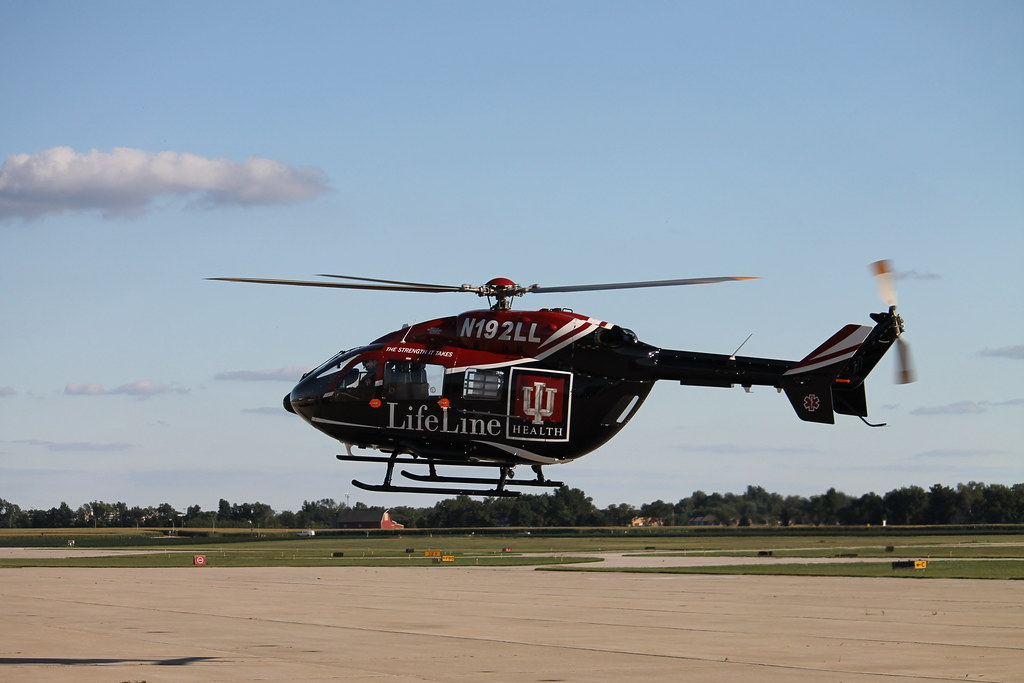 Indiana University Health LifeLine   Medical Helicopter in F