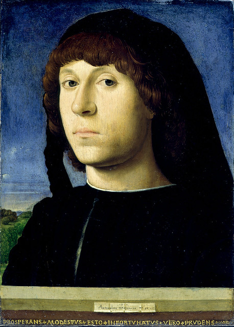 Antonello da Messina - Portrait of a young man (1478)