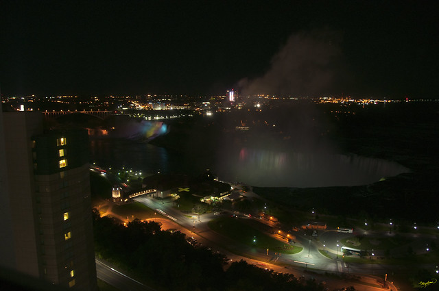 Niagara Falls - night view from the Marriott on the Falls