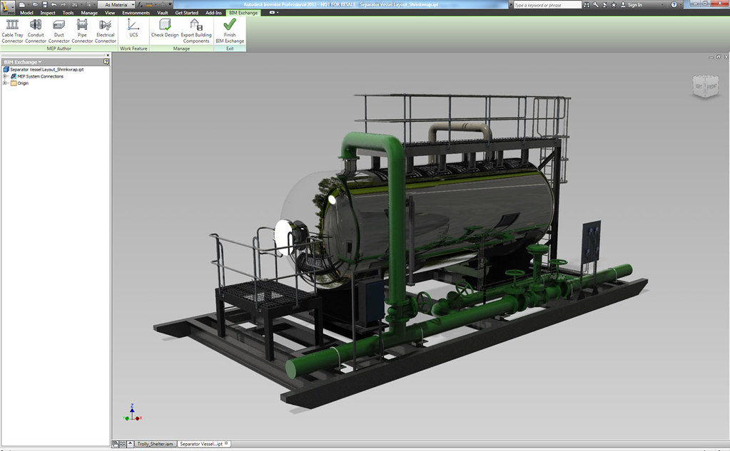 Autodesk Inventor | A water treatmet skid for a large retail