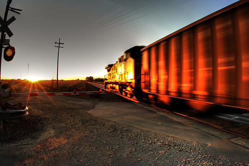 railroad sunset lawrence trains kansas hdr traincrossing coaltrain