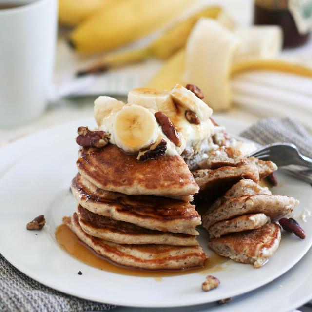 Banana Buttermilk Pancakes-26
