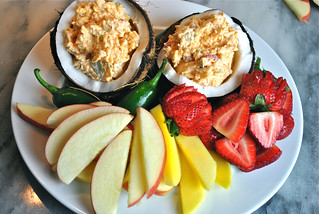 Pimento cheese fruit plate | by palmetto cheese