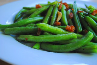 Garlicky Green Beans With Dried Shrimp Bits | by Whisks & Chopsticks