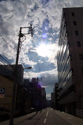 Take a photo against the sun(Carl Zeiss Vario-Sonnar T*).