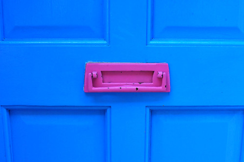 Pink Letter Box in a Blue Door 2 | by Kamal H.