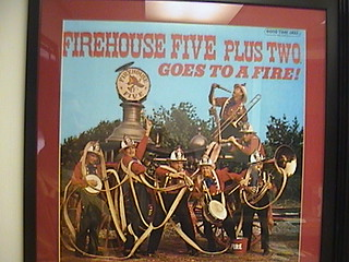 Firehouse Five plus Two album poster, Office, County of Los Angeles Fire Museum, 9834, Flora Vista Street, Bellflower, 2011.08.07 10:19