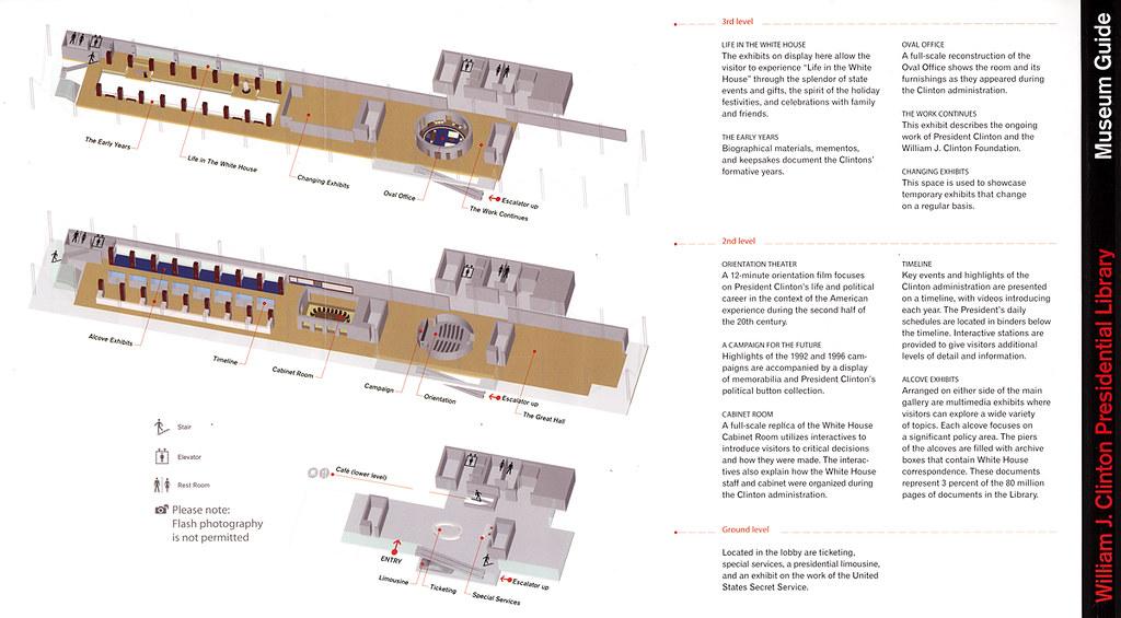 William J Clinton Presidential Library Floorplan Stecki Flickr