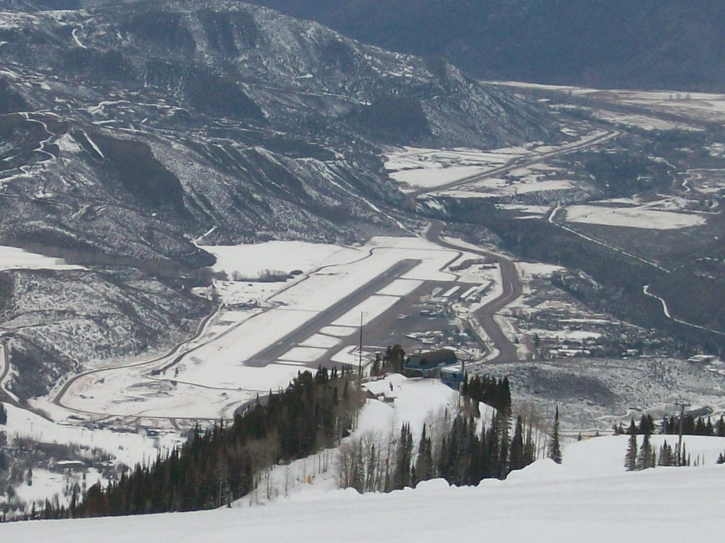 Aspen Airport View from Above