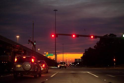 sunset texas houston smokysunset texaswildfires september72011