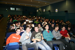 Sergio Diaz en la presentación de ONA en el cinema. Plano general