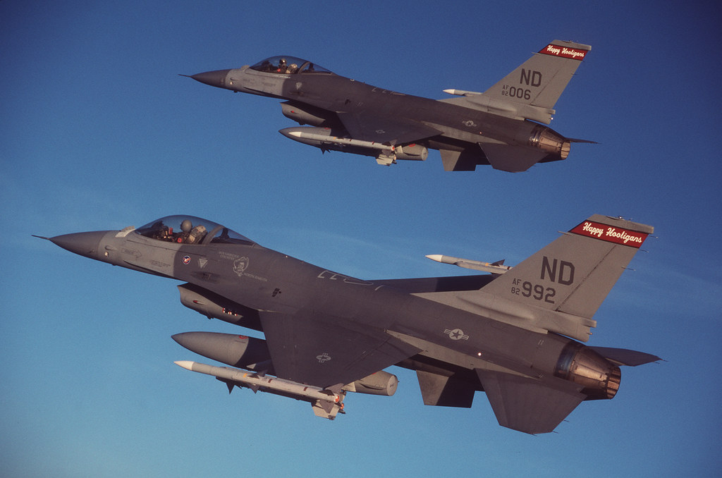 ND F-16 Combat Air Patrol_2 | Two F-16A Air-Defense Fighter … | Flickr
