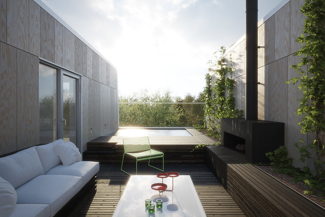 Urban House Terrace View 3600px