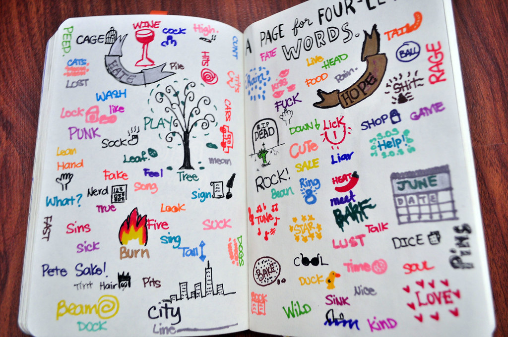 Four Letter O Words.Wreck This Journal Page Of Four Letter Words Tried My Be