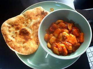 Sweet Potato & Butter Bean Curry with Naan   by mattk1979