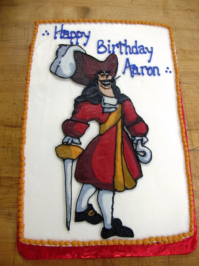 Excellent Captain Hook Birthday Cake Captain Hook Birthday Cake Flickr Personalised Birthday Cards Arneslily Jamesorg