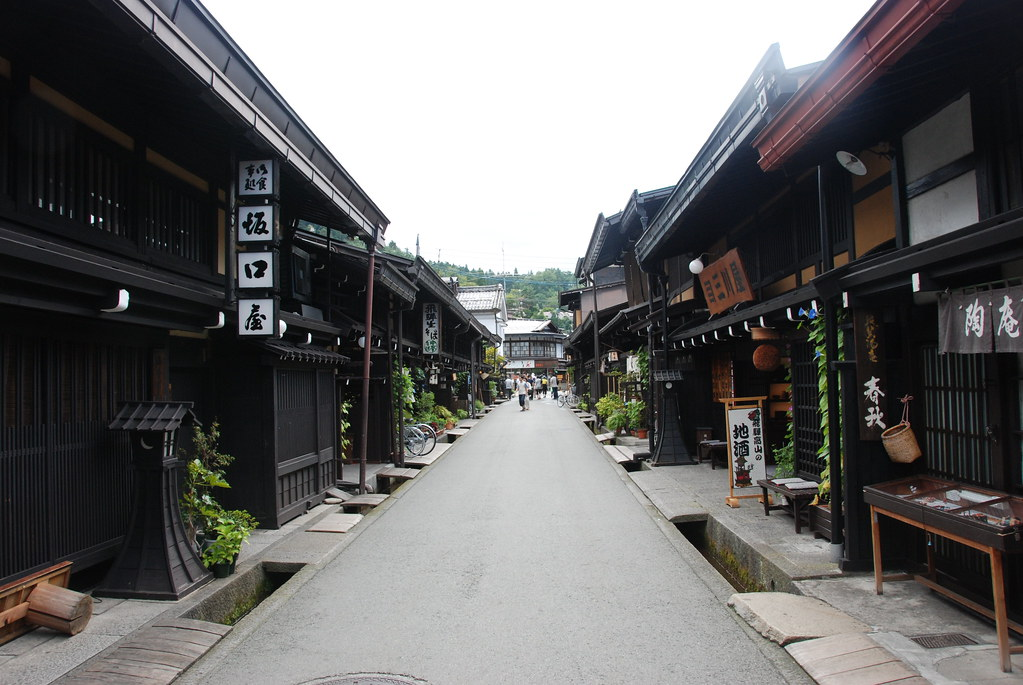 Shops in one of the three main streets in Sanmachi-Suji