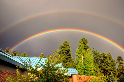 sunset monsoon doublerainbow lowellobservatory d90 flagstaffarizona
