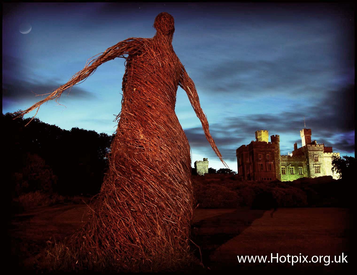 bluehour,blue,hour,dusk,Scotland,Stornoway,western,isles,Lewis,Harris,UK,GB,great,britain,castle,moon,grounds,wicker,art,woman,tony,smith,hotpix,tonysmithhotpix,tonysmith,CNES,Hebrides,painting,with,light,long,exposure,tripod,HDR