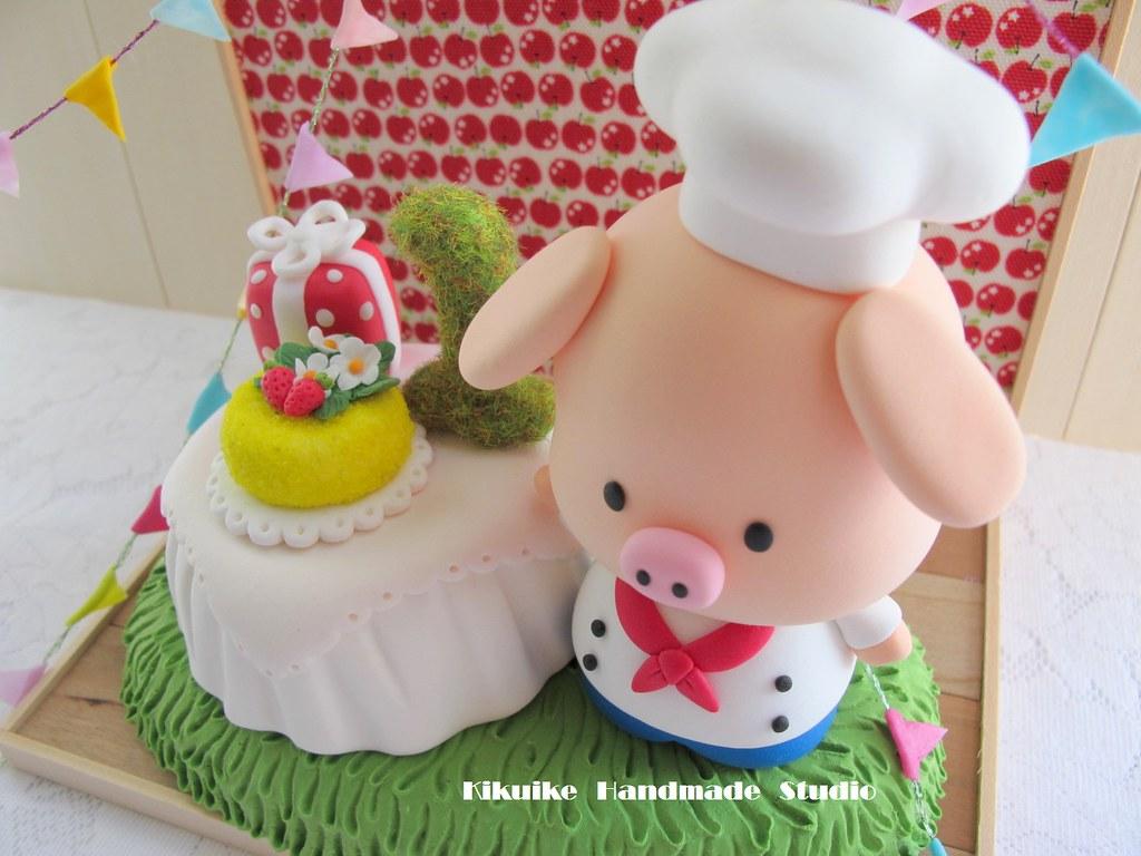 Awesome Piggy Birthday Cake Topper Charles Fukuyama Flickr Funny Birthday Cards Online Necthendildamsfinfo