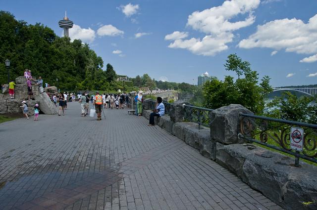 Niagara Falls - Lost in thought on the Pedestrian walkway