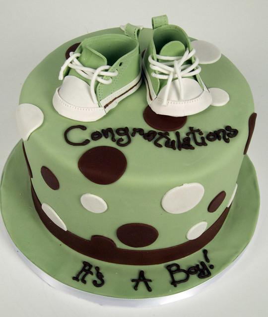 green baby shower cake toronto