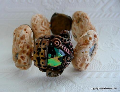 Bronze Limestone Fauxpal bracelet