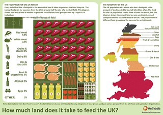 How much land does it take to feed the UK?
