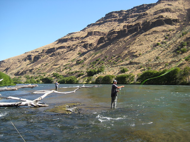 casting on the deschutes