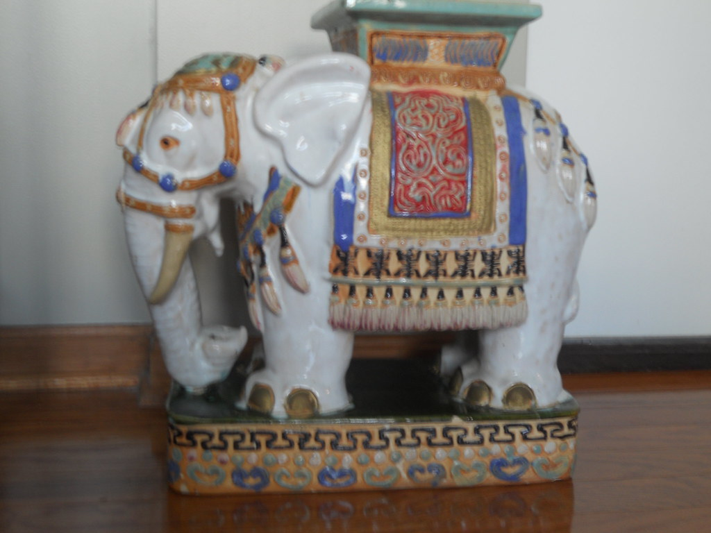 Sensational Sold Vintage Ceramic Elephant Garden Stool This Garden St Spiritservingveterans Wood Chair Design Ideas Spiritservingveteransorg