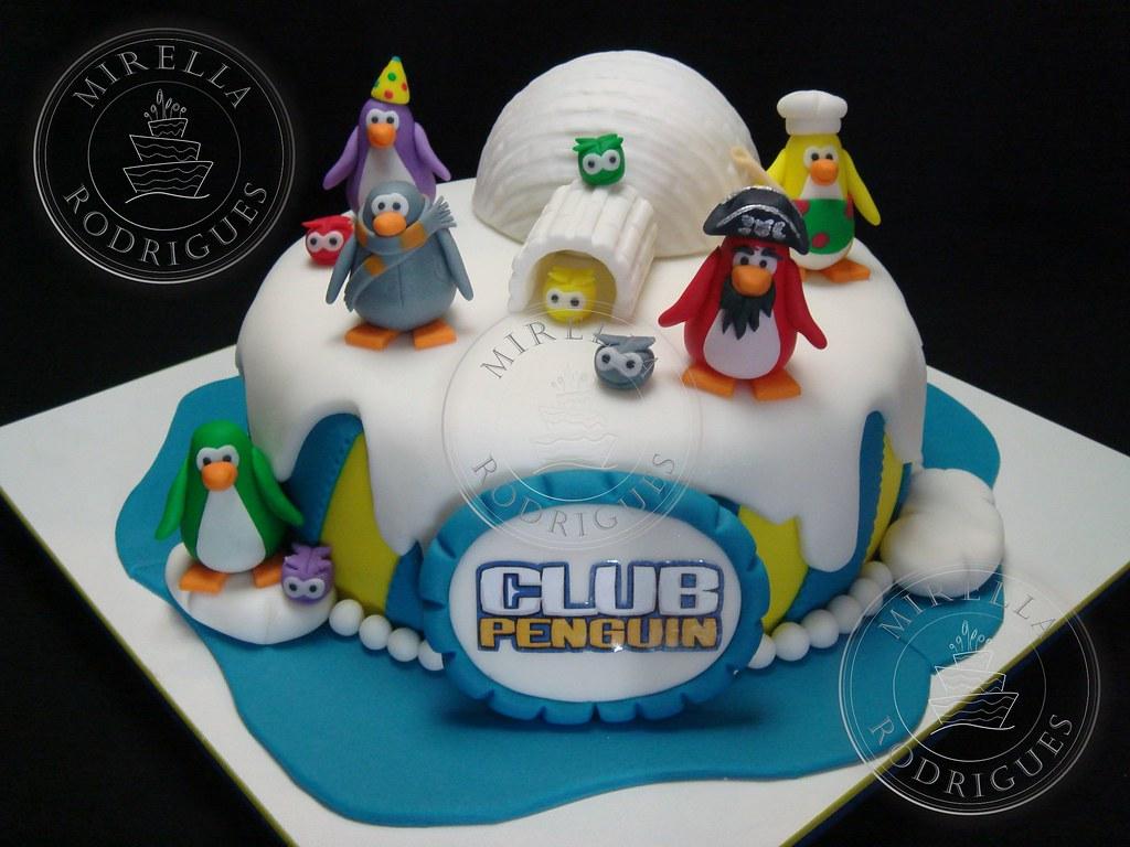 Pleasing Club Penguin Birthday Cake 4 Bolo Decorado De Aniversario Flickr Funny Birthday Cards Online Alyptdamsfinfo