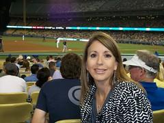 Tina, CML survivor, enjoying a Dodger game!! (United States)