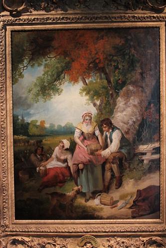 oklahoma painting harvestdinner landscapeart fredjonesjrmuseumofart franciswheatley