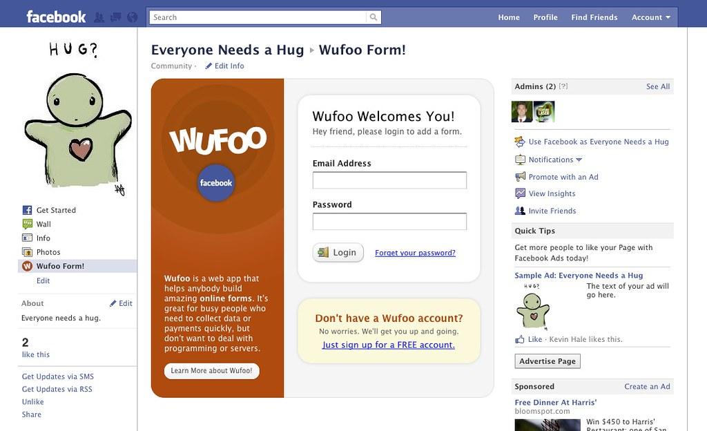 Facebook App Login | Wufoo Team | Flickr
