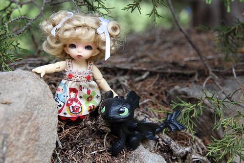 Tess & Toothless were looking for a spot to build a fort. | by AluminumDryad